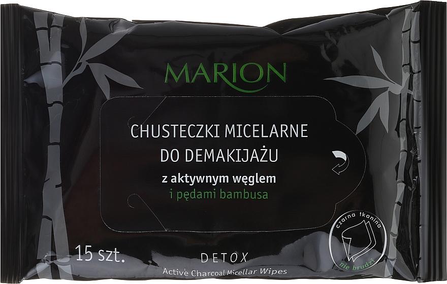Mizellen-Reinigungstücher für Gesicht mit Kohle - Marion Micellar
