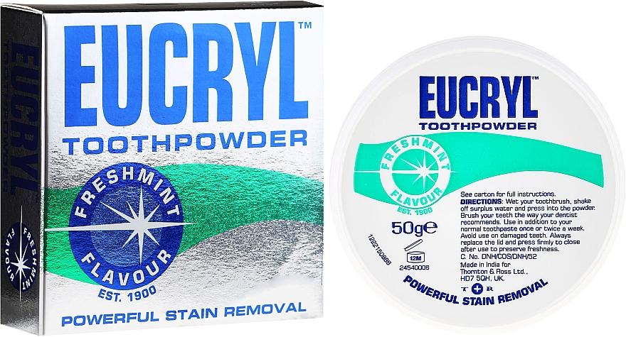 Bleichender und polierender Zahnpulver mit Minzgeschmack - Eucryl Toothpowder Freshmint