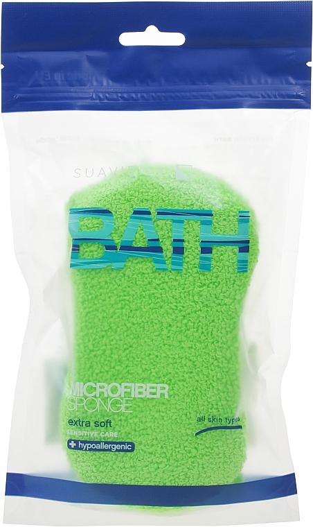 Badeschwamm hellgrün - Suavipiel Microfiber Bath Sponge Extra Soft