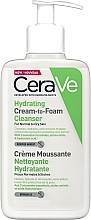 Düfte, Parfümerie und Kosmetik Feuchtigkeitsspendender Gesichtscreme-Schaum mit Ceramiden, Aminosäuren und Hyaluronsäure - CeraVe Hydrating Cream To Foam Cleanser For Normal To Dry Skin