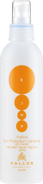 Sonnenschützendes Haarspray mit Keratin SPF 6 - Kallos Cosmetics Sun Protection Hairspray With Keratin SPF6