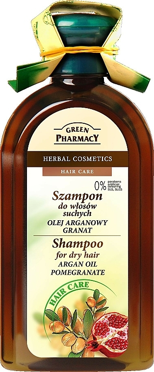 """Shampoo für trockenes und geschädigtes Haar """"Arganöl und Granatapfel"""" - Green Pharmacy"""