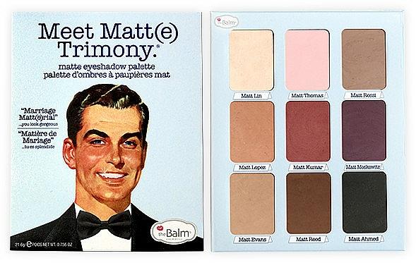 Lidschattenpalette - theBalm Meet Matt(e) Nude Matte Eyeshadow Palette (25.5g)