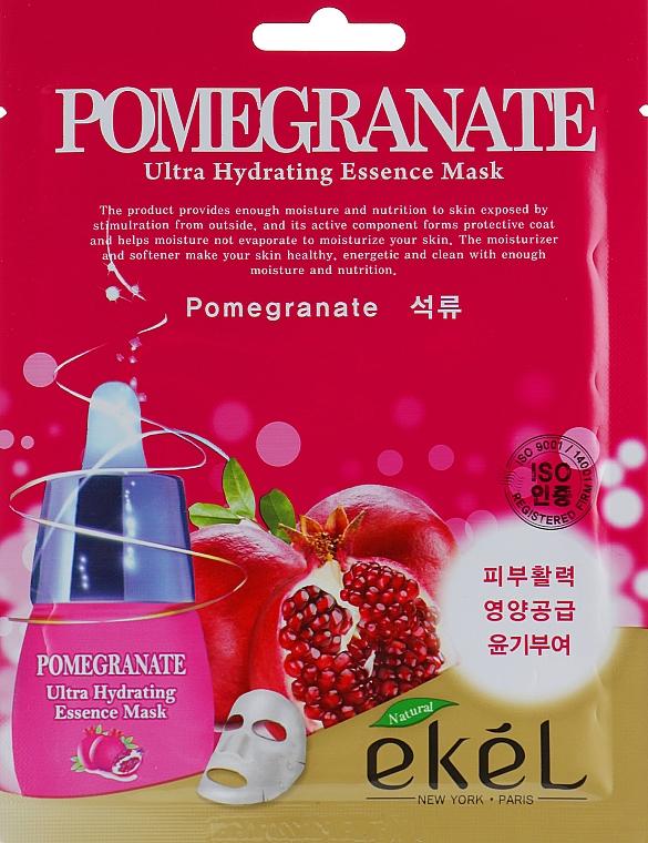 Feuchtigkeitsspendende Tuchmaske mit Pomeganate - Ekel Pomegranate Ultra Hydrating Essence Mask
