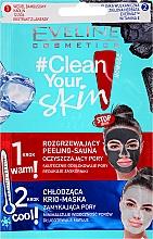 Düfte, Parfümerie und Kosmetik 2in1 Gesichtspeeling und Maske - Eveline Cosmetics #Clean Your Skin Peeling-Sauna And Maska