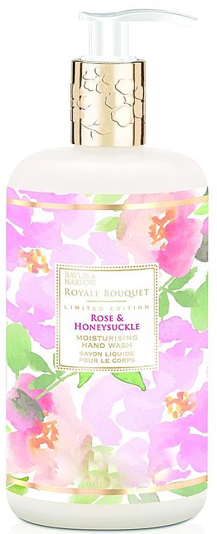 Flüssige Handseife Rose & Honeysuckle - Baylis & Harding Royale Bouquet Rose and Honeysuckle Hand Wash