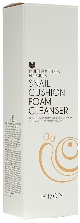 Gesichtsreinigungsschaum mit Schneckenschleimfiltrat - Mizon Snail Cushion Foam Cleanser