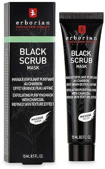 Peelingmaske für Gesicht mit Aktivkohle - Erborian Black Scrub Mask