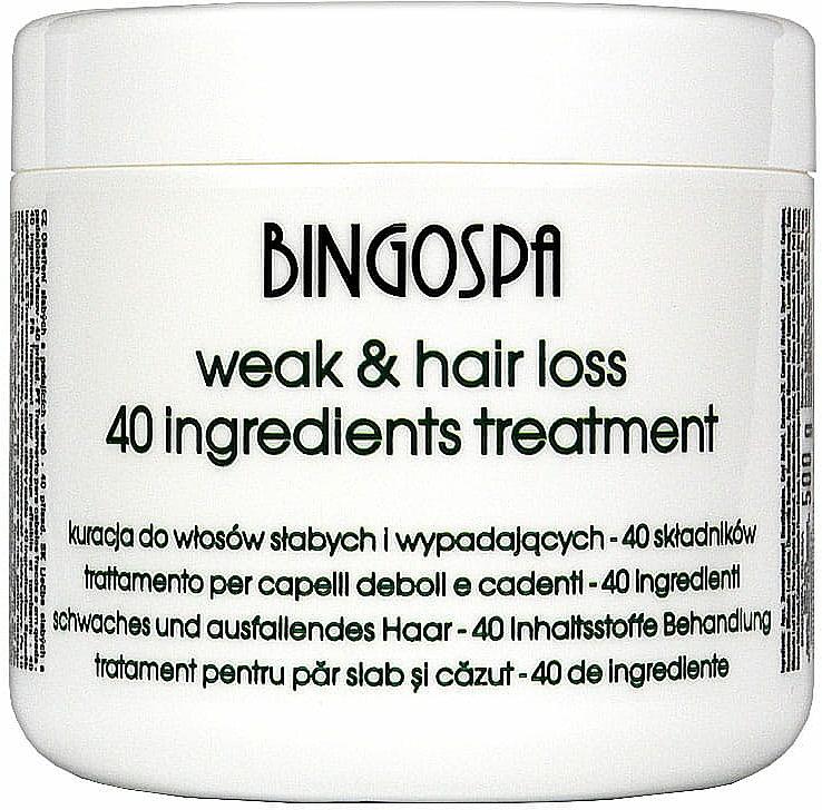 Maske für geschwächtes und coloriertes Haar - BingoSpa Treatment For Hair
