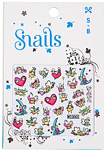 Düfte, Parfümerie und Kosmetik Dekorative Nagelsticker - Snails 3D Nail Stickers (10 St.)