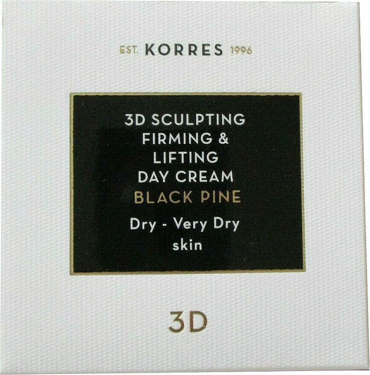 Straffende Tagescreme für trockene und sehr trockene Haut mit Lifting-Effekt - Korres 3D Scuplting, Firming & Lifting Day Cream Dry And Very Dry Skin