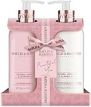 Düfte, Parfümerie und Kosmetik Körperpflegeset - Baylis & Harding Jojoba, Vanilla & Almond Oil (Flüssige Handseife 300ml + Lotion für Hände und Körper 300ml)