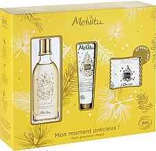 Düfte, Parfümerie und Kosmetik Körperpflegeset - Melvita L'Or Bio Set (Gesichts- und Körperseife 20g + Haaröl 50ml + Handcreme 30ml)