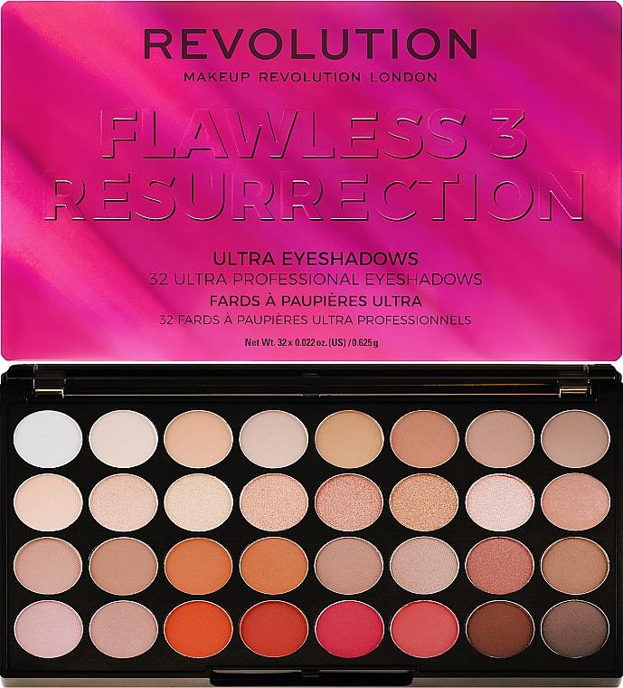 Lidschattenpalette - Makeup Revolution Ultra 32 Shade Palette Flawless 3 Resurrection