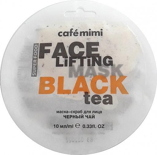 Lifting-Peelingmaske für das Gesicht mit schwarzem Tee und Zitronengras - Cafe Mimi Face Mask