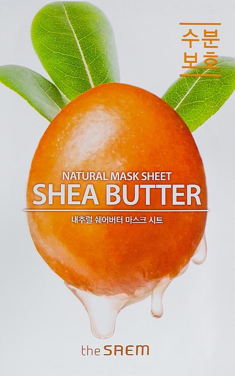 Tuchmaske für das Gesicht mit Sheabutter-Extrakt - The Saem Natural Shea Butter Mask Sheet
