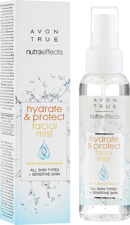 Feuchtigkeitsspendender und schützender Gesichtsnebel für empfindliche Haut - Avon True Nutra Effect Hydrate & Protect Facial Mist