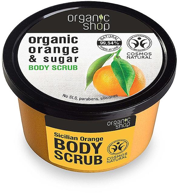 Körperpeeling mit Bio Orangenöl und braunem Zucker - Organic Shop Body Scrub Organic Orange & Sugar