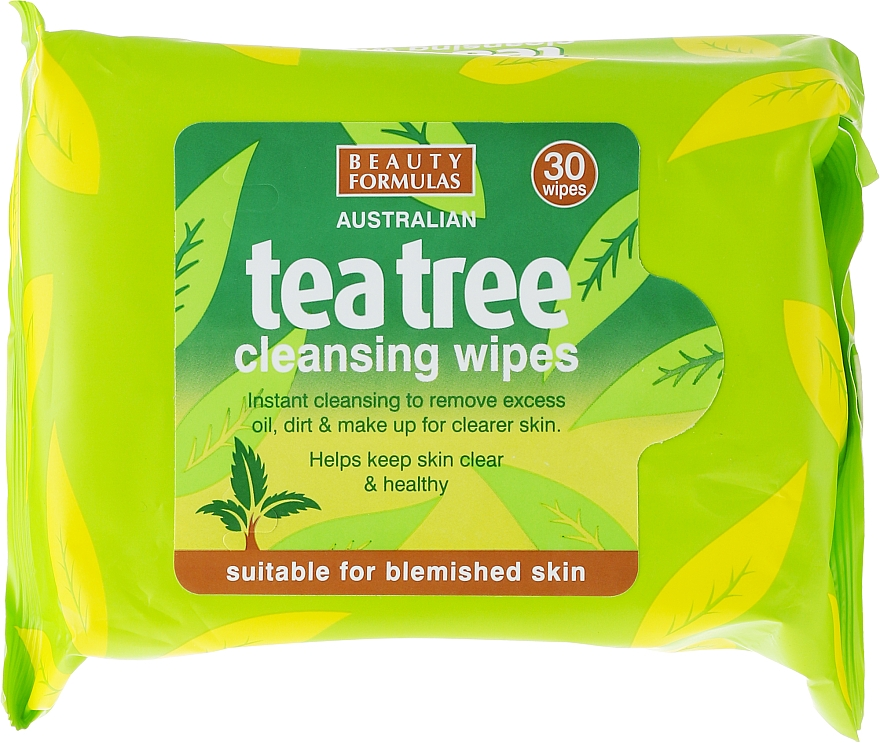 Gesichtsreinigungstücher 30 St. - Beauty Formulas Tea Tree Cleansing Wipes