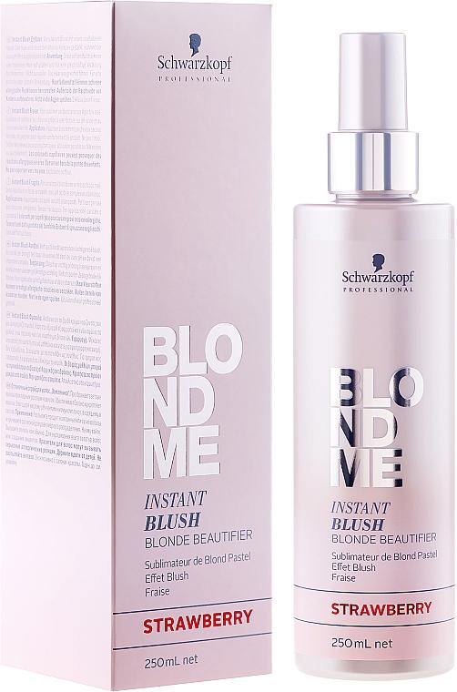 Farbspray für blondes Haar - Schwarzkopf Professional BlondMe Instant Blush Spray