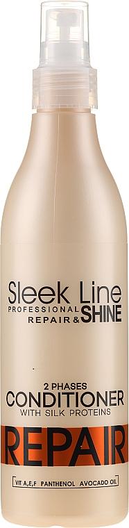 Zweiphasige reparierende Haarspülung ohne Ausspülen - Stapiz Sleek Line Repair Two-Phases Conditioner