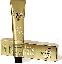 Düfte, Parfümerie und Kosmetik Ammoniakfreie Creme-Haarfarbe mit Keratin, Gold und Arganöl - Fanola Oro Therapy Color Keratin Oro Puro