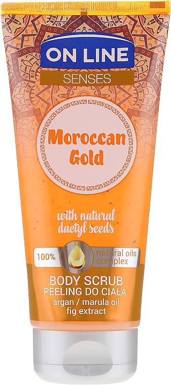 Glättendes Körperpeeling - On Line Senses Body Scrub Moroccan Gold