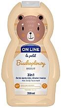 Düfte, Parfümerie und Kosmetik 3in1 Duschgel für Körper, Gesicht und Haar mit Keksduft - On Line Le Petit Biscuit 3 In 1 Hair Body Face Wash