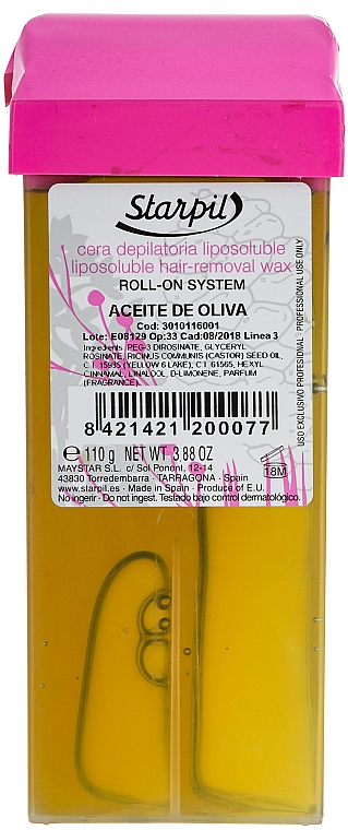 Natürliches Enthaarungswachs mit Olivenöl - Starpil Wax
