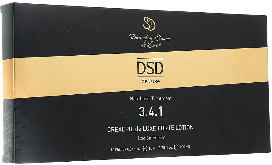 Lotion gegen Haarausfall und zum Wachstum in Ampullen № 3.4.1 - Divination Simone De Luxe Crexepil DeLuxe Forte Lotion