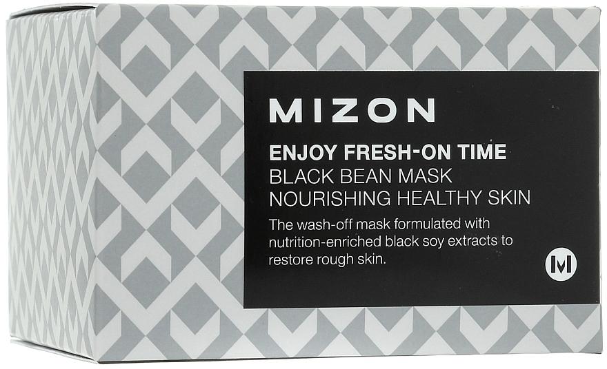 Pflegende Gesichtsmaske mit schwarzen Bohnen - Mizon Enjoy Fresh On-Time Black Bean Mask