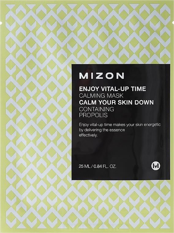 Beruhigende Tuchmaske mit Propolis - Mizon Enjoy Vital-Up Time Calming Mask
