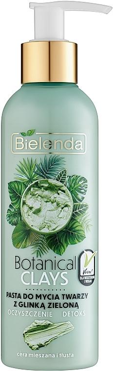 Entgiftende Gesichtsreinigungspaste mit grünem Ton - Bielenda Botanical Clays Vegan Face Wash Paste Green Clay