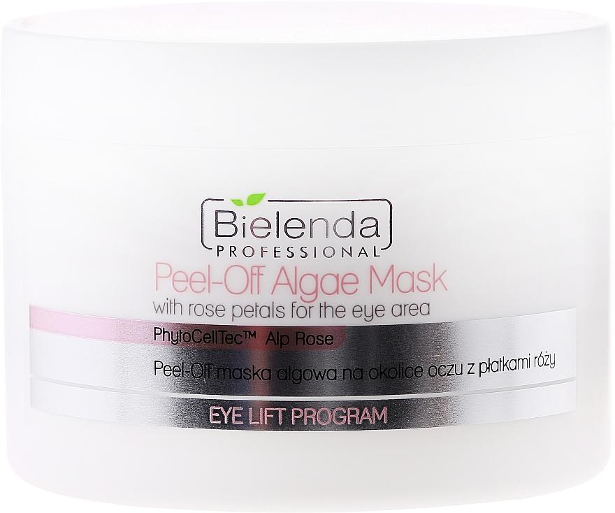 Algenmaske für die Augenpartie mit Rosenblättern - Bielenda Professional Eye Lift Program Peel-Off Algae Mask
