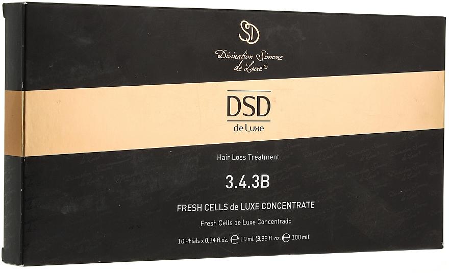 Behandlung in Ampullen gegen Haarausfall und zum Wachstum № 3.4.3B - Divination Simone De Luxe Fresh Cells De Luxe wondercell Concentrate