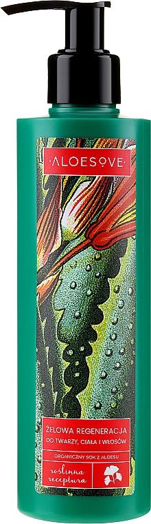 Regenerierendes Gel für Gesicht, Haar und Körper mit Aloe Vera-Saft - Aloesove