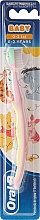 Düfte, Parfümerie und Kosmetik Kinderzahnbürste 0-2 Jahre extra weich Pu der Bär rosa-gelb - Oral-B Baby