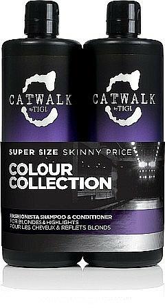 Haarpflegeset - Tigi Catwalk Fashionista, Blonde (Shampoo 750ml + Conditioner 750ml)