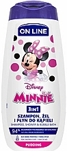Düfte, Parfümerie und Kosmetik 3in1 Shampoo, Dusch- und Badeschaum mit Pudding-Duft - On Line Kids Disney Minnie