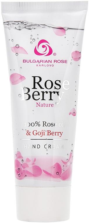 Handcreme Rosenöl & Goji Berry - Bulgarian Rose Rose Berry Nature Hand Cream