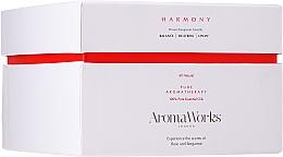 Düfte, Parfümerie und Kosmetik Soja-Duftkerze im Glas mit 3 Dochten, Rosen- und Bergamottenduft - AromaWorks Harmony Candle 3-wick