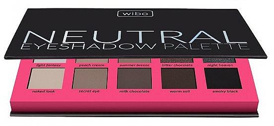 Lidschattenpalette - Wibo Neutral Eye Shadow Palette