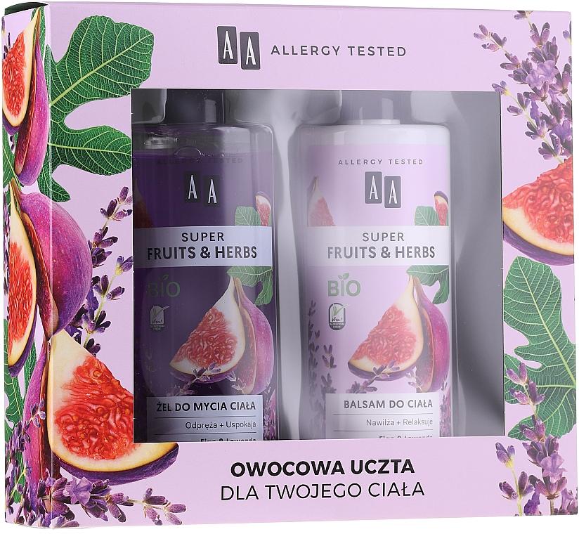 Körperpflegeset - AA Super Fruits&Herbs Set (Duschgel 500ml + Körperlotion 500ml)
