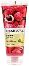 Düfte, Parfümerie und Kosmetik Körperpeeling mit Ingwer und Litschibaum - Fresh Juice Litchi & Ginger