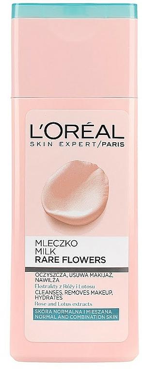 Gesichtsreinigungsmilch mit Rosen- und Lotusextrakt - L'Oreal Paris Rare Flowers Face Milk