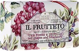 Düfte, Parfümerie und Kosmetik Naturseife Red Grapes & Blueberry - Nesti Dante Nourishing & Illuminating Soap Il Frutteto Collection