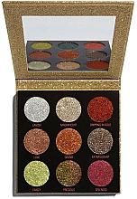 Düfte, Parfümerie und Kosmetik Lidschattenpalette mit Glitzer - Makeup Revolution Pressed Glitter Palette Midas Touch