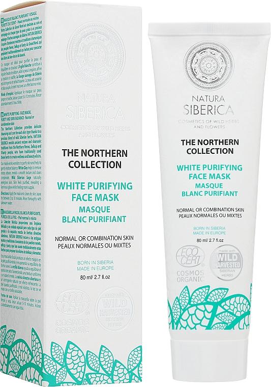 Sanfte Gesichtsmaske gegen überschüssigen Talg mit weißem Ton - Natura Siberica The Northern Collection White Purifying Face Mask