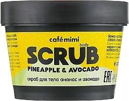 Düfte, Parfümerie und Kosmetik Körperpeeling mit Ananasextrakt und Avocadoöl - Cafe Mimi Body Scrub Pine Apple & Avocado