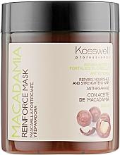 Düfte, Parfümerie und Kosmetik Anti-Haarbruch Maske mit Macadamiaöl - Kosswell Professional Macadamia Reinforce Mask